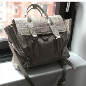Pashli medium satchel - light grey